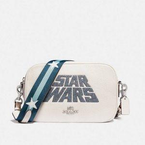 Coach Star Wars X Jes White Leather Cross Body Bag